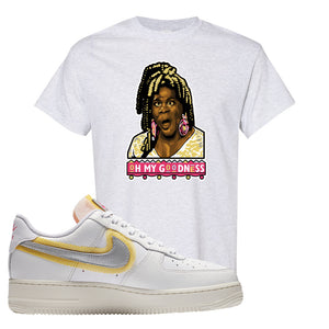 Air Force 1 Low 07 LX White Gold T Shirt | Oh My Goodness, Ash