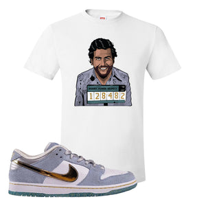 Sean Cliver x SB Dunk Low T Shirt | Escobar Illustration, White