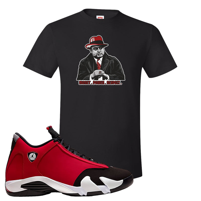 Air Jordan 14 Gym Red T Shirt | Black, Capone Illustration