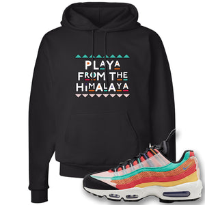 Air Max 95 Black History Month Sneaker Black Pullover Hoodie | Hoodie to match Nike Air Max 95 Black History Month Shoes | Playa From The Himalaya