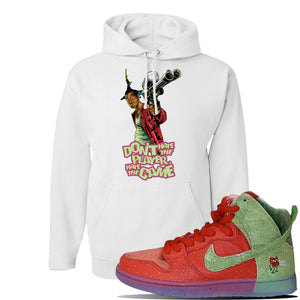 SB Dunk High 'Strawberry Cough' Hoodie | White, Don't Hate The Player