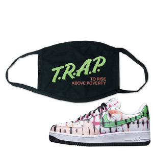 Air Force 1 Low Multi-Colored Tie-Dye Face Mask | Black, Trap To Rise Above Poverty