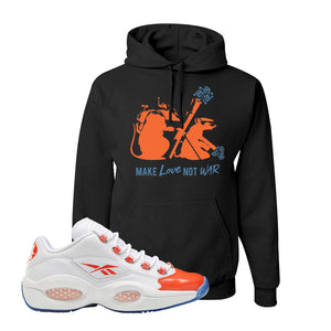 Question Low Vivid Orange Hoodie | Army Rats, Black
