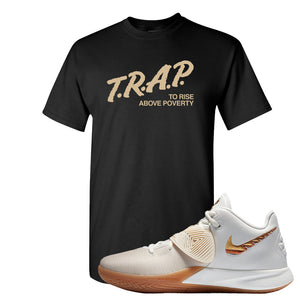 Kyrie Flytrap 3 Summit White T Shirt | Trap To Rise Above Poverty, Black