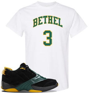 Answer 5 Bethel High Sneaker White T Shirt | Tees to match Reebok Answer 5 Bethel High Shoes | Bethel 3 Arch
