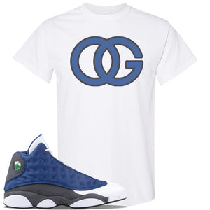 Jordan 13 Flint 2020 Sneaker White T Shirt | Tees to match Nike Air Jordan 13 Flint 2020 Shoes | OG