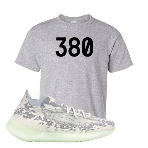 Yeezy Boost 380 Alien 380 Sport Gray Sneaker Matching Kid's T-Shirt