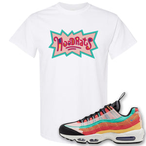 Air Max 95 Black History Month Sneaker White T Shirt | Tees to match Nike Air Max 95 Black History Month Shoes | Hood Rats