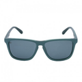the knockaround teal blue sunglasses feature a teal blue frame