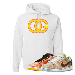 SB Dunk Low Street Hawker Hoodie | OG, White