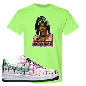 Air Force 1 Low Multi-Colored Tie-Dye T Shirt | Neon Green, Oh My Goodness