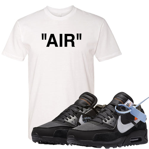 e30c1cddf Shop the Air Max 90 OFF-WHITE Black sneaker matching t-shirt to match