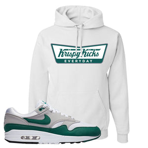 Air Max 1 Evergreen Hoodie | Krispy Kicks, White