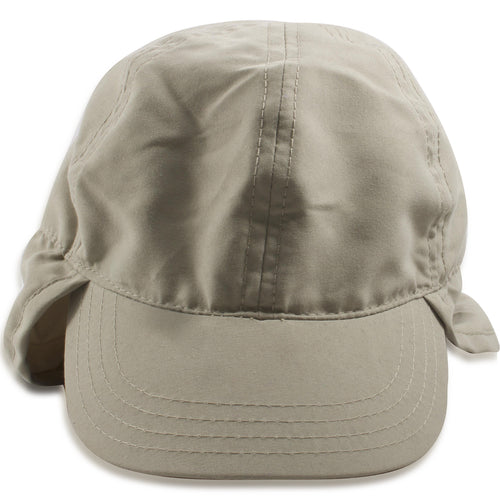 dde4622f6b1bd Dorfman Pacific Infant Khaki Flap Cap with Protective Neck Cover
