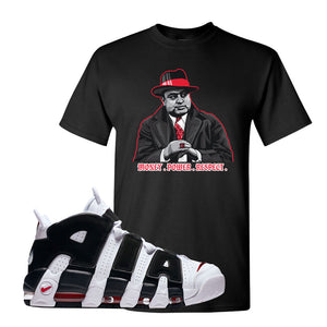 Air More Uptempo White Black Red T Shirt | Black, Capone Illustration