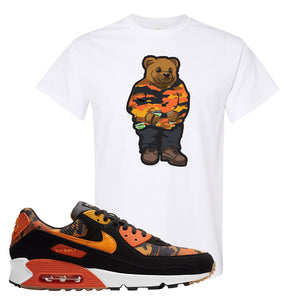 Air Max 90 Orange Camo T Shirt | Sweater Bear, White
