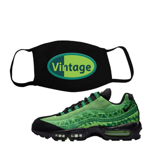 Air Max 95 Naija Face Mask | Vintage Oval, Black