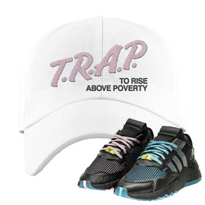 Ninja x adidas Nite Jogger Dad Hat | Trap To Rise Above Poverty, White