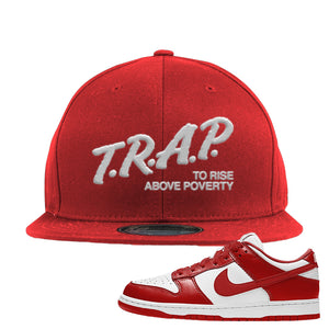 SB Dunk Low St. Johns Snapback Hat | Trap To Rise Above Poverty, Red