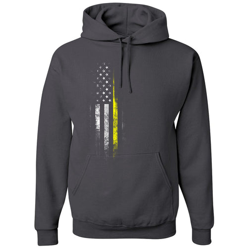 Standard Issue Yellow Lives Matter Distressed Gray Pullover Grunt Life Hoodie