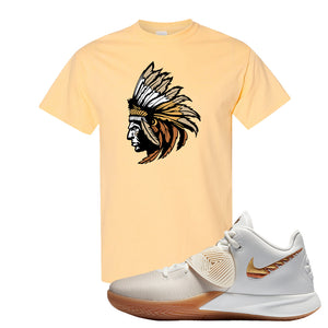 Kyrie Flytrap 3 Summit White T Shirt | Indian Chief, Yellow Haze