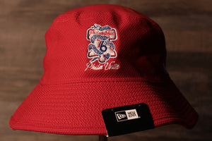 Sixers snake bucket hat | Philadelphia 76ers custom phila united serpent logo bucket hat | Royal sixers bucket the front of this sixers bucket hat has the sixers playoff snake logo