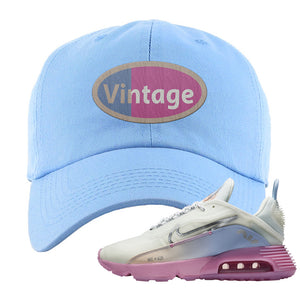 Air Max 2090 Airplane Travel Dad Hat | Vintage Oval, Light Blue
