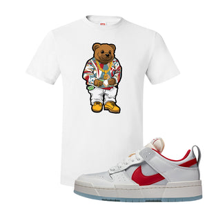 Dunk Low Disrupt Gym Red T Shirt | Sweater Bear, White
