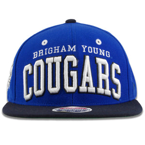 BYU Cougars Royal Blue on Black Snapback Hat