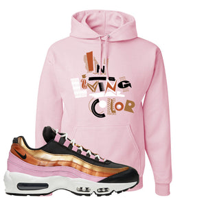 Air Max 95 WMNS Copper and Gold Pullover Hoodie | In Living Color, Classic Pink