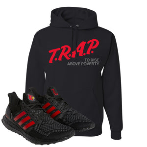 Ultra Boost 1.0 Louisville Hoodie | Trap To Rise Above Poverty, Black