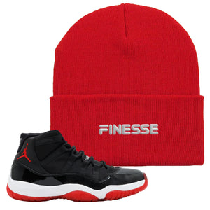 Jordan 11 Bred Beanie | Red, Finesse