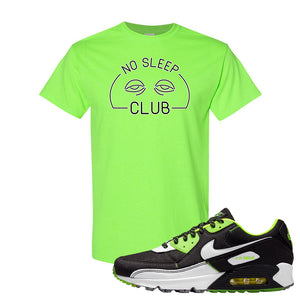 Air Max 90 Exeter Edition Black T Shirt | No Sleep Club, Neon Green