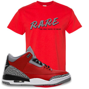 Jordan 3 Red Cement T-Shirt | True Red, Rare