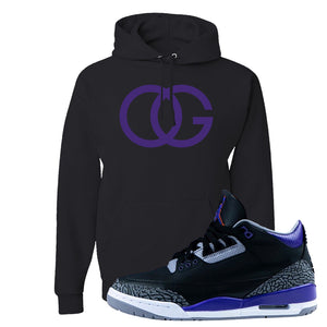 Air Jordan 3 Court Purple Hoodie | OG, Black