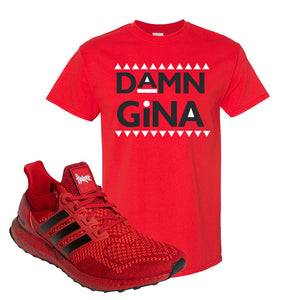Ultra Boost 1.0 Nebraska T-Shirt | Damn Gina, Red