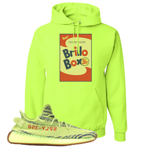 Brillo Box Safety Green Pullover Hoodie to match Yeezy Boost 350 V2 Frozen Yellow Sneaker