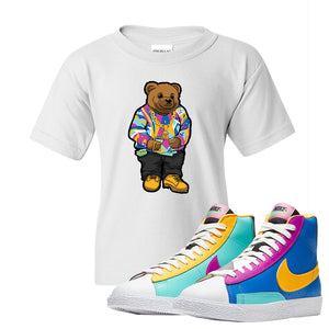 Blazer Mid Big Kids T Shirt | White, Sweater Bear