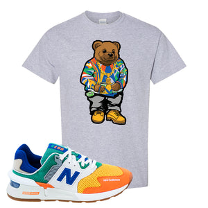 997S Multicolor Sneaker Sports Gray T Shirt | Tees to match New Balance 997S Multicolor Shoes | Sweater Bear