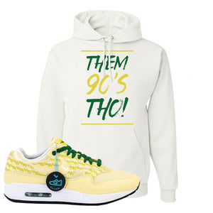 Air Max 1 PRM Lemonade Hoodie | Them 90's Tho, White