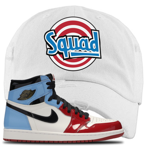 Air Jordan 1 Fearless Squad White Made to Match Distressed Dad Hat