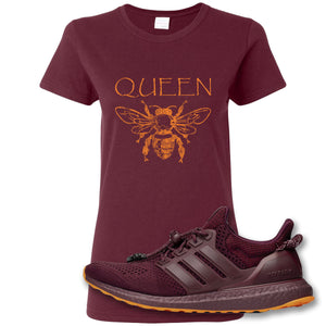 Queen Bee Maroon Women's T-Shirt to match Ivy Park X Adidas Ultra Boost Sneaker