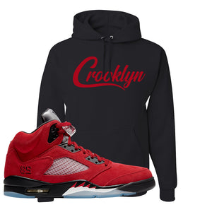 Air Jordan 5 Raging Bull Hoodie | Crooklyn, Black