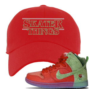 SB Dunk High 'Strawberry Cough' Dad Hat | Red, Skater Things