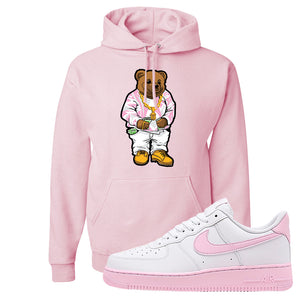 Air Force 1 Low White Pink Foam Hoodie | Classic Pink, Sweater Bear