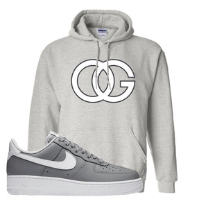 Air Force 1 Low Wolf Grey White Hoodie | Ash, OG