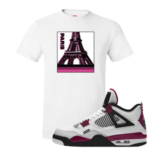 Air Jordan 4 PSG Paname T-Shirt | Paris Pop Art, White