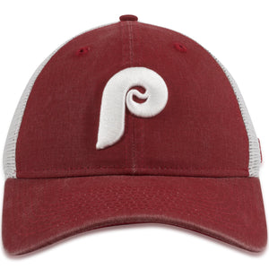 Philadelphia Phillies Cooperstown Maroon/White Mesh-Back Trucker Snapback Hat