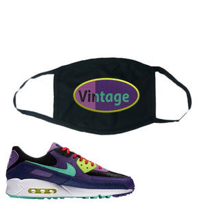 Air Max 90 Cheetah Face Mask | Vintage Oval, Black