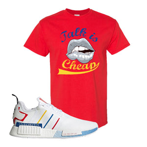 NMD R1 Olympic Pack T Shirt | Red, Talk is Cheap